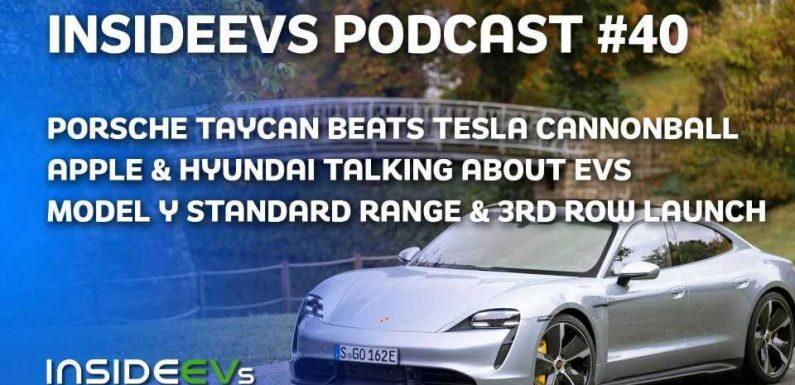 Porsche Taycan Sets New Cannonball Record, Tesla Model Y