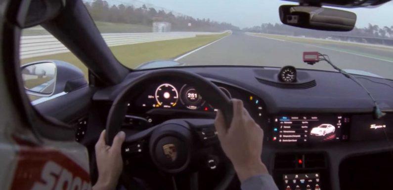 Porsche Taycan Turbo Faster Than Mustang Shelby GT500 At Hockenheim