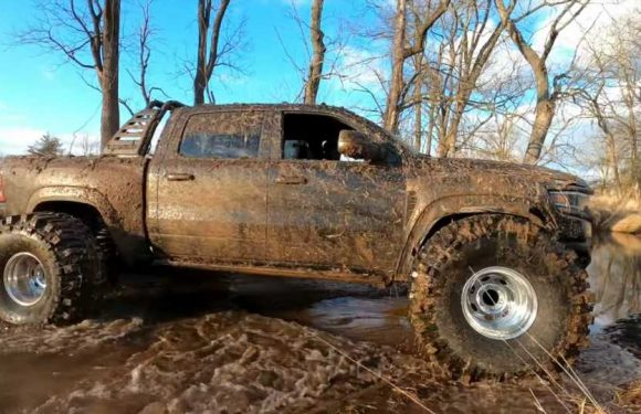 Ram TRX Will Fit 44-Inch Mud Tires If You Don't Care About Turning