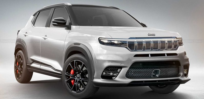 Baby Jeep Unofficial Renderings Show Compact Grand Wagoneer Style
