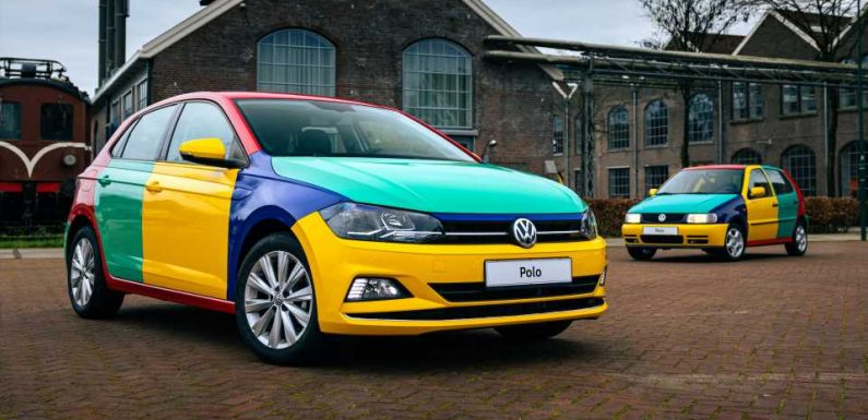 VW Made a New Harlequin Car to Brighten Up Everyone's 2021