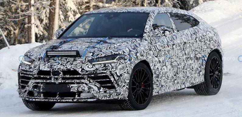 Lamborghini Urus Evo Keeps Facelift Hidden In New Spy Photos