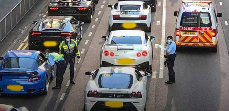 Watch As Hong Kong Police Intercept 45 Supercars For Street Racing