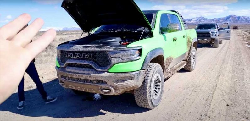YouTuber Ruins Ram TRX Transmission After Off-Road Oil Line Failure by Refusing to Wait for a Tow