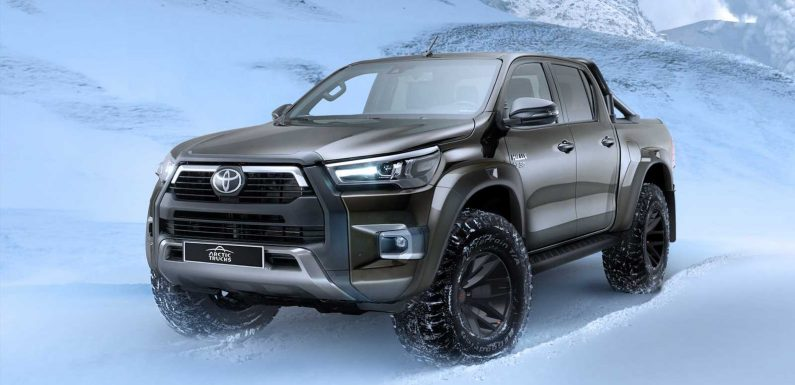 New Toyota Hilux AT35 is ready for some snow