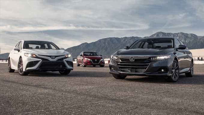 2021 Honda Accord vs. Toyota Camry vs. Nissan Altima Comparison Test