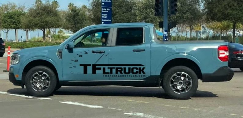 2022 Ford Maverick Spied Without Any Camo During Photo Shoot