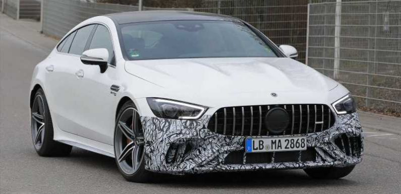 Facelifted Mercedes-AMG GT 4-Door Coupe spied again