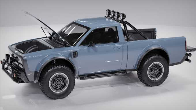 The Alpha Wolf Is a Retro Electric Mini-Truck With Attitude