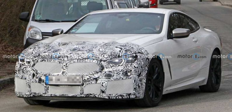 BMW 8 Series Coupe Spied Hiding Discreet Facelift