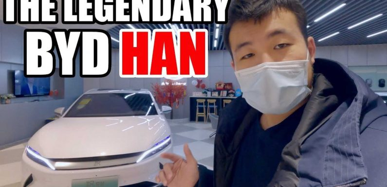 Check Out The BYD Han, A Tesla Model S Rival With A Trick Rotating Screen