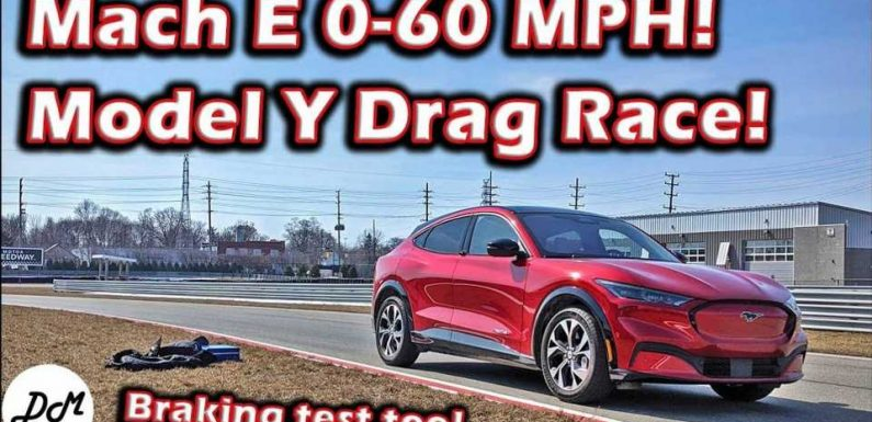 See Ford Mustang Mach-E Performance Testing And Race With Tesla Model Y