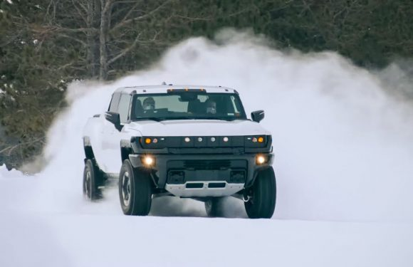 Watch the Hummer EV Winter Testing in Michigan
