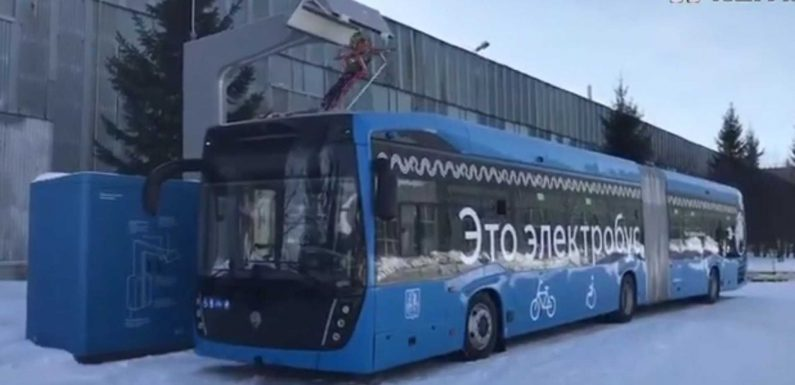 Kamaz Shows Off The First Russian Electric Articulated Bus