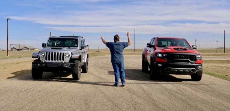2021 Ram 1500 TRX Drag Races a 2021 Jeep Wrangler 392: Who Ya Got?