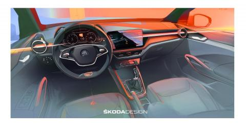 2022 Skoda Fabia interior design sketch released