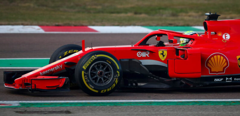 Charles Leclerc tests old Ferrari model at Fiorano