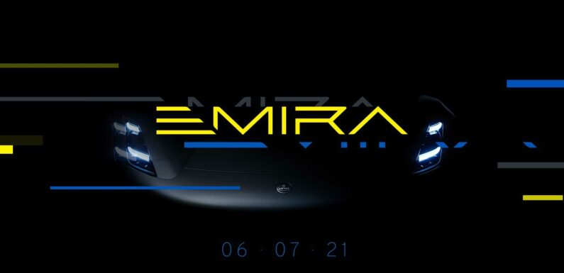 Lotus Emira Teased As The Swan Song For Gasoline Engines