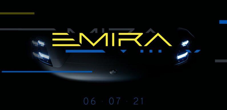 Lotus Emira teased – last pure petrol Lotus sports car, new extruded aluminium architecture, debuts July 6 – paultan.org
