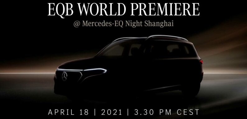 Mercedes-Benz Teases EQB Ahead Of World Premiere On April 18th