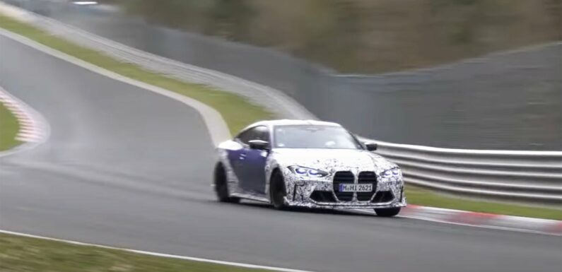 New BMW M4 CSL Prototype Spotted Ripping Around the Nurburgring