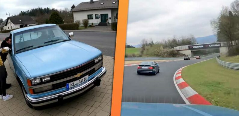Watch a 1989 Chevy K1500 Silverado Throw Down a Wild Hot Lap on the Nurburgring