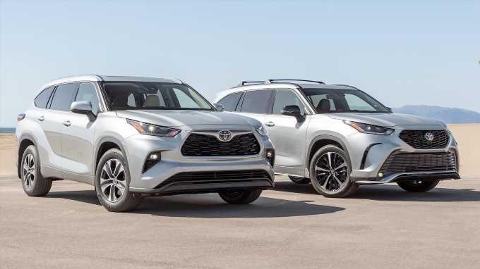2021 Toyota Highlander XLE vs. Highlander XSE