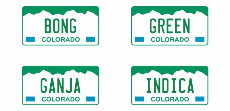Weed-Themed Colorado License Plates Like 'BONG' and 'GANJA' Are Selling for Thousands at Auction
