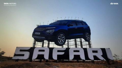 Tata installs India's largest billboard for the new Safari