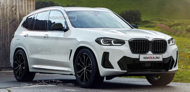 2022 BMW X3 Facelift Unofficially Rendered After Early Chinese Debut