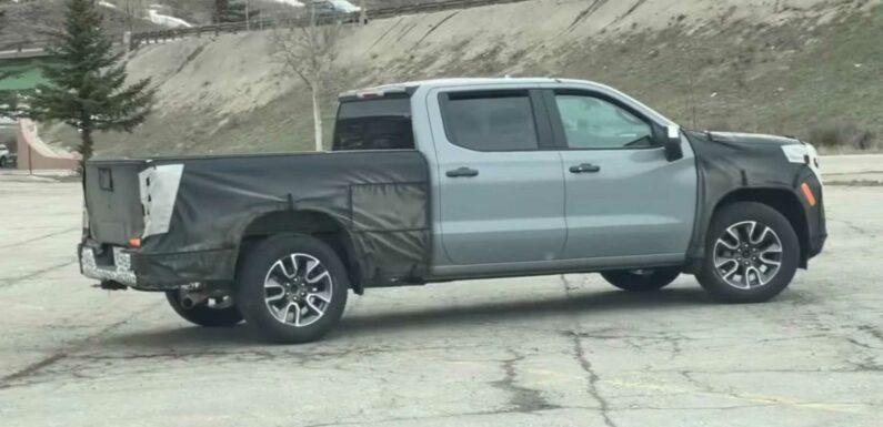 2022 Chevrolet Silverado Spied Testing In The Mountains