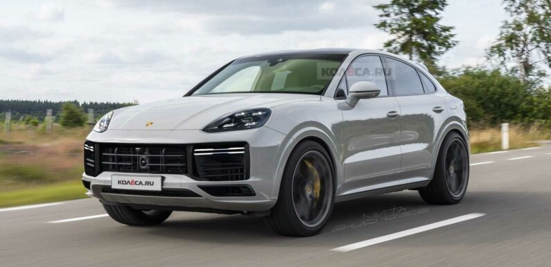 2022 Porsche Cayenne Coupe Facelift Rendering Takes After Spy Shots