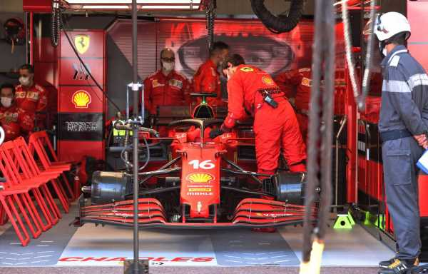 Ferrari confirm Charles Leclerc crash caused broken driveshaft