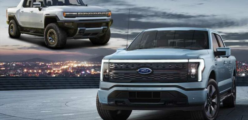 How the Electric Ford F-150 Lightning Compares to the GMC Hummer EV