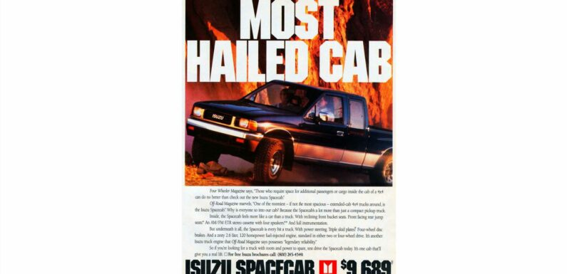 Neither a LUV nor a P'up, the 1990 Isuzu Spacecab Offered Room for Your Small Friends