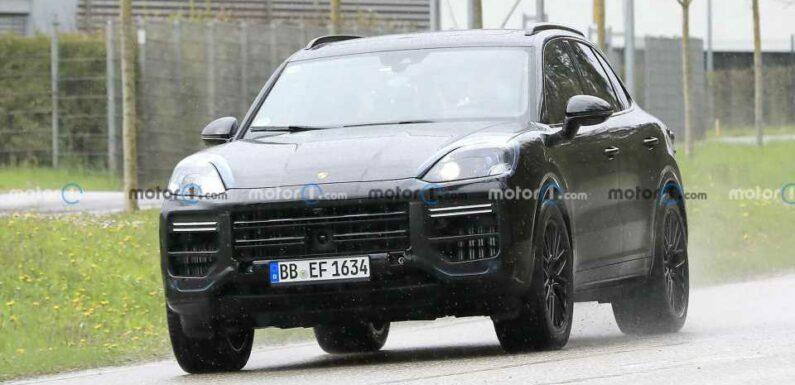 Porsche Cayenne Spy Shots Show Chunky New Front Fascia