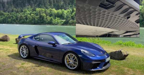 TIL: The Bottom Of A Porsche 718 Cayman GT4 Has Golf Ball-Like Dimples