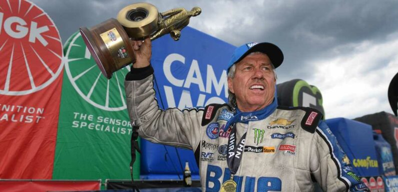 Tale of Two Careers as John Force Wins No. 152, Dallas Glenn No. 1 at NHRA Four-Wide Nationals