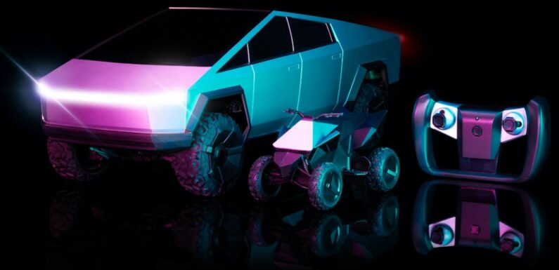 Tesla Cybertruck About to Debut … In R/C Form, Complete With Cyberquad