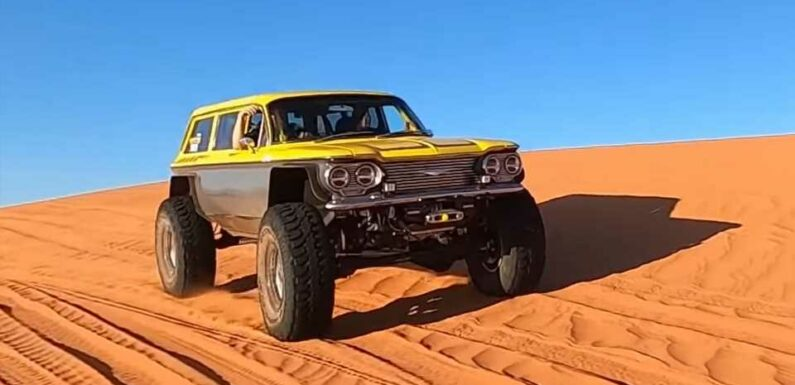 That Lifted Chevy Corvair Wagon Built for Off-Road Recoveries Is Finally Finished