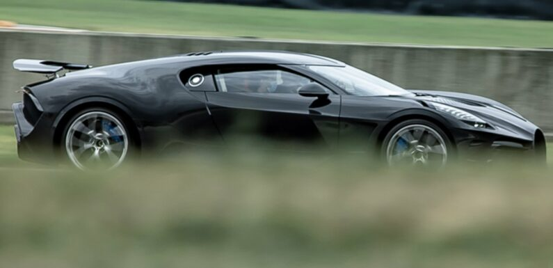 The $12.5M, One-Off Bugatti La Voiture Noire Is Now Track Testing—Expensively, of Course