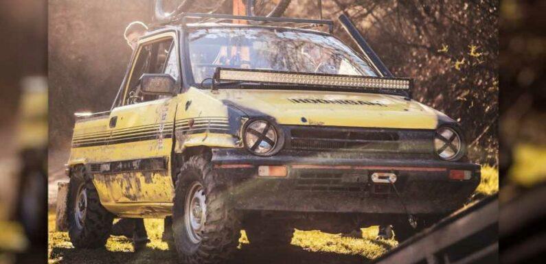 Tiny Off-Road Honda City Pickup on ATV Tires Is Worth Shipping From New Zealand