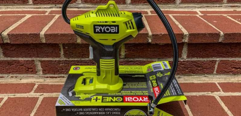We Go Portable With the Ryobi P737 18-Volt One+ Cordless Power Inflator