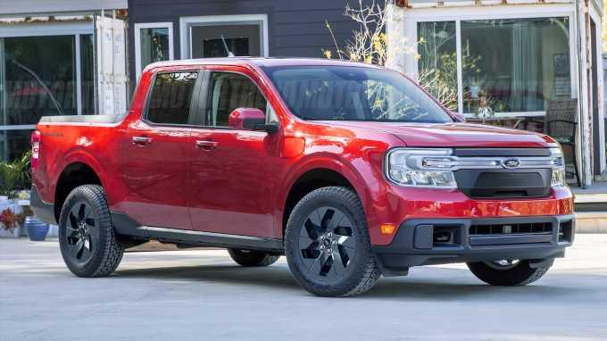 2022 Ford Maverick Imagined as Electric Lightning Pickup Truck
