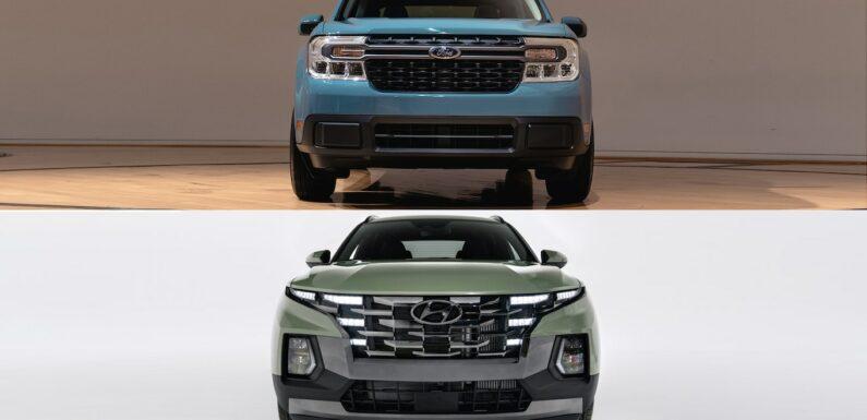 2022 Ford Maverick vs. Hyundai Santa Cruz: Specs Comparison