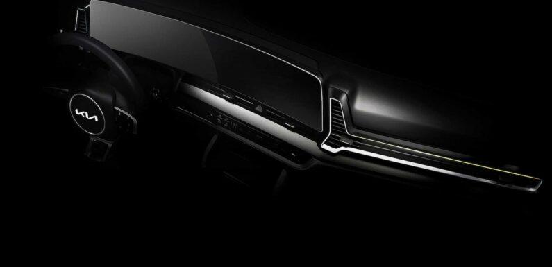 2023 Kia Sportage Teasers Show Off Huge Screen, Slick New Looks
