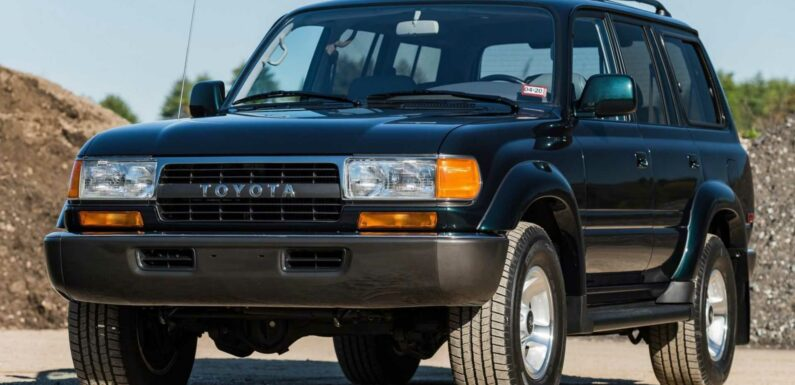 27-Year-Old Toyota Land Cruiser SUV Sells For $136,000