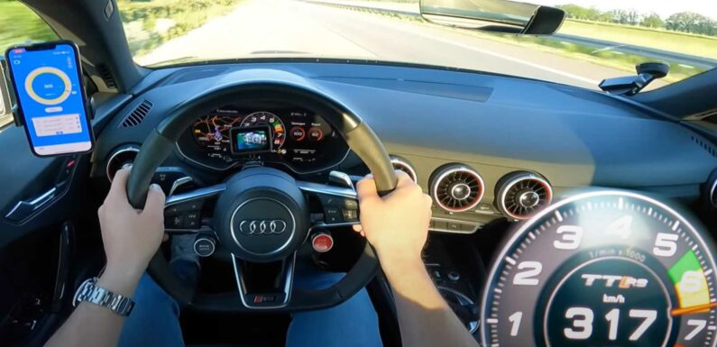 Audi TT RS With 616 HP Sounds Heavenly In Autobahn Top Speed Run