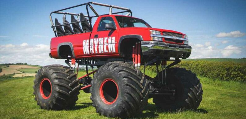 Chevrolet Silverado Monster Truck Heads To Auction With 11 Seats