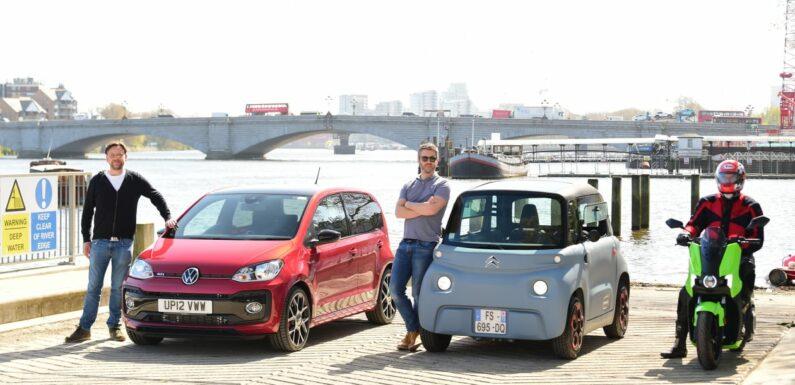 Commuter Cup: Citroen Ami vs Silence Scooter vs Volkswagen up!
